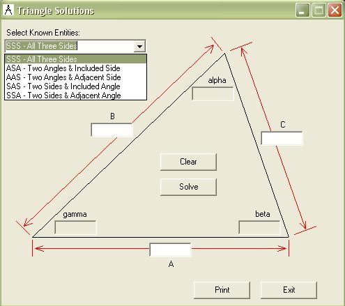 Triangle solution