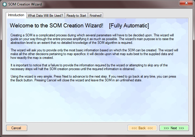 SOM Creation Wizard