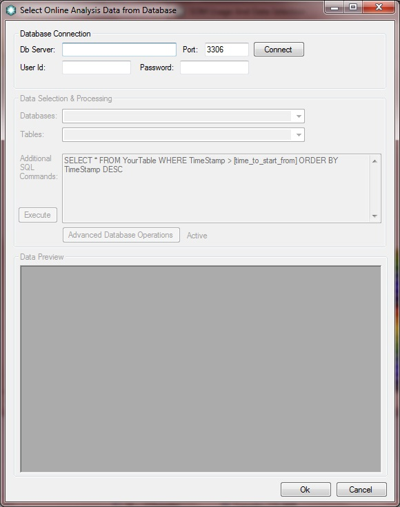Input Online Analysis Data
