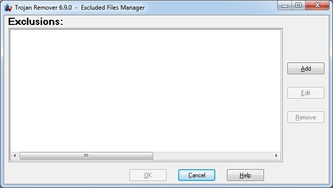 Excluded Files Manager