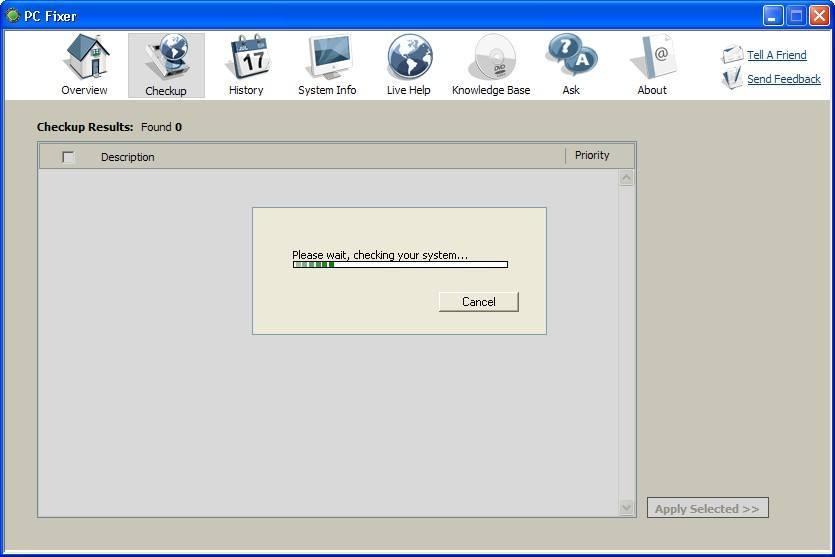 Live system scanning