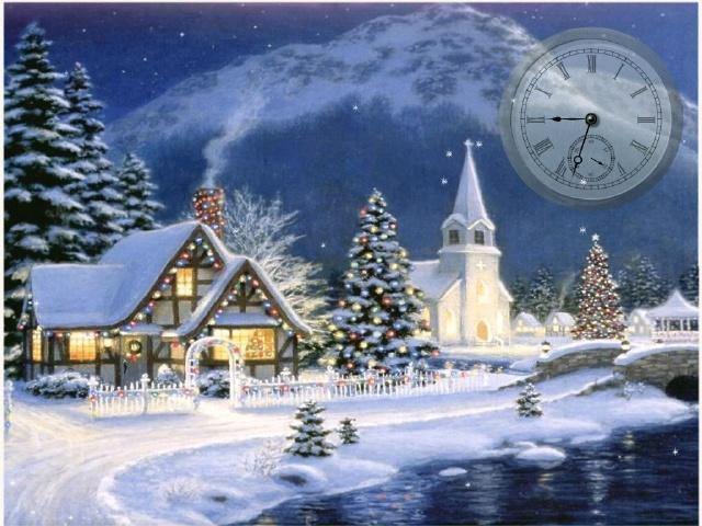 Christmas Winter Scene Screensavers Desktops