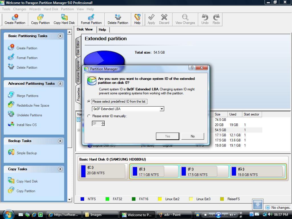 Change Disk Parameters