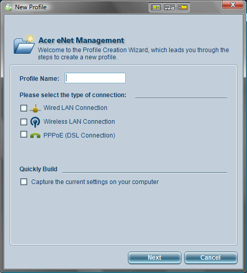 Acer eNet Management Profile Manager New