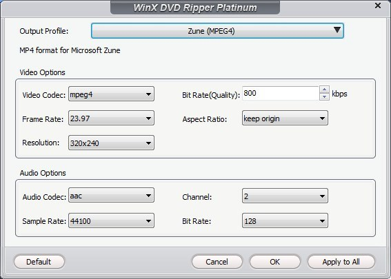 Setting Output Parameters