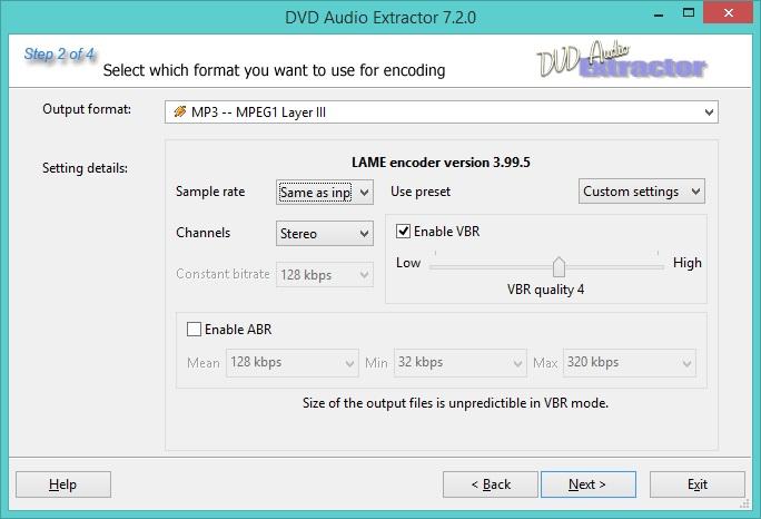 Audio Conversion Settings