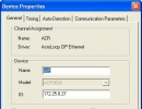 Device Properties Window