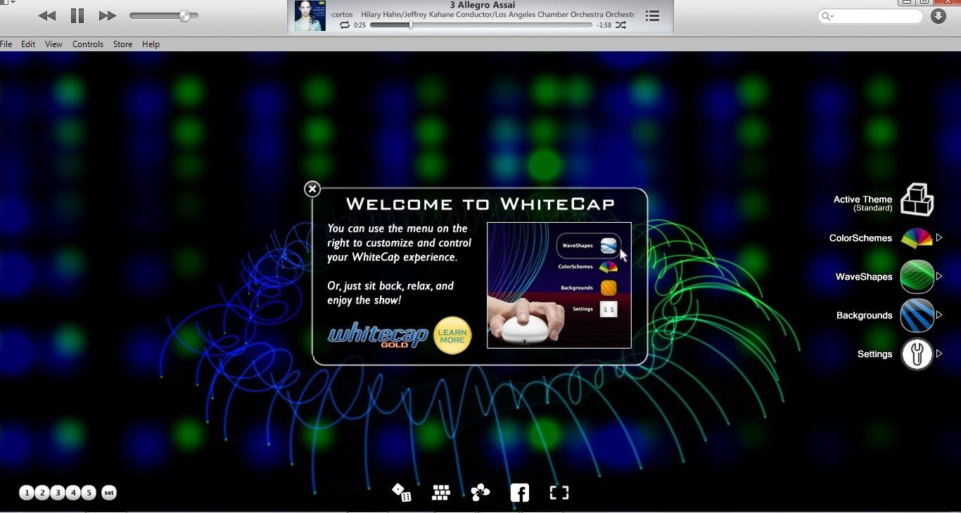 WhiteCap in iTunes(Windows)