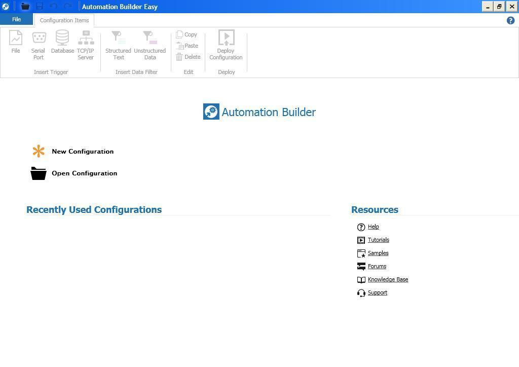 Automation Builder Main Window