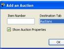 Add an auction