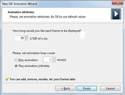 Animation Wizard Step 3