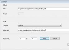 Splitting a PDF