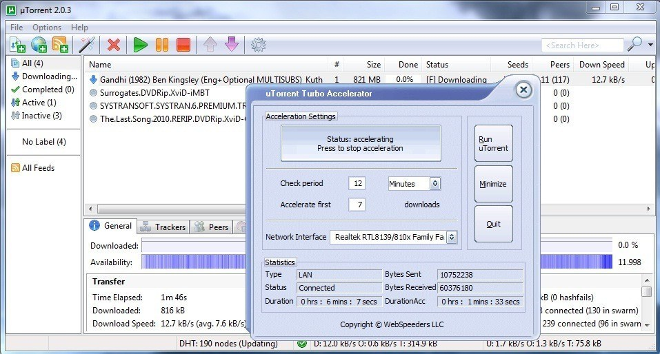 Utorrent turbo accelerator 1.5 3 with serial by raj