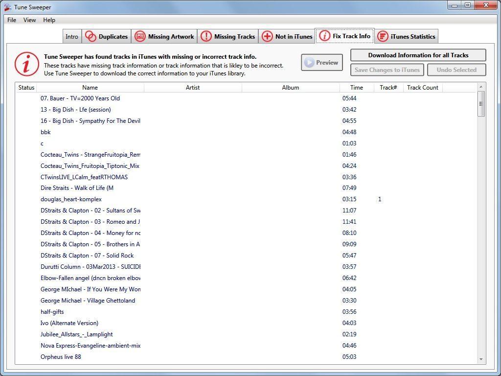 Fix Track Metadata