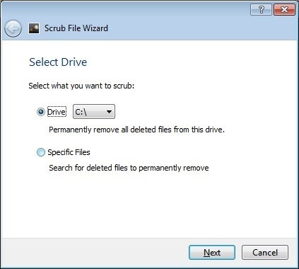 Scrub File Wizard
