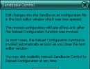Configurations warning