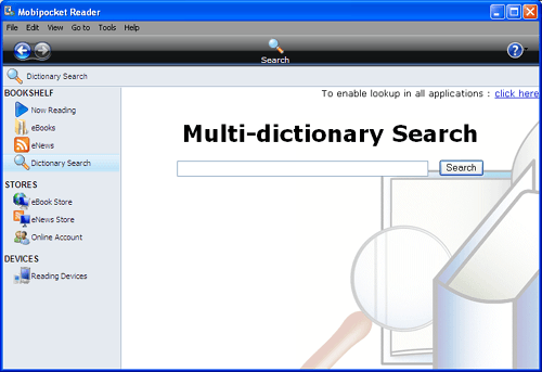 Dictionary Search Option