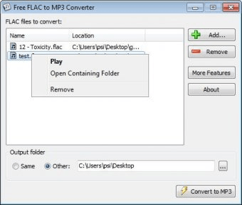 convert flac to mp3 free windows 10