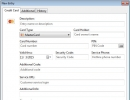Creating New Credit Card Entry