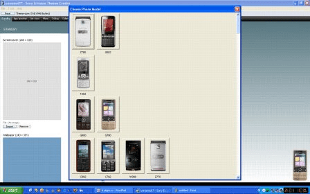 theme maker software free  for sony ericsson