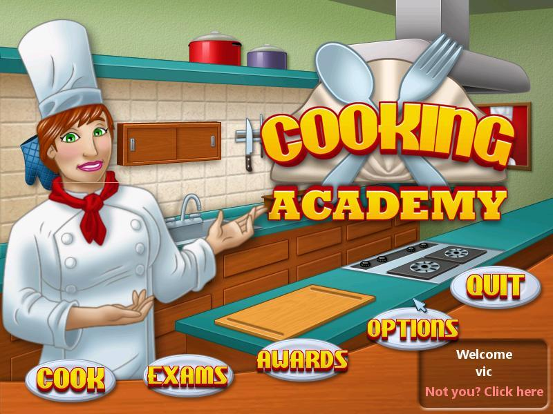 Cooking Academy-Startup screen