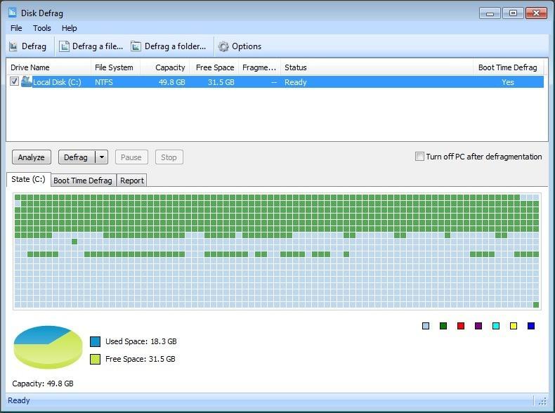 Disk Defrag Tool