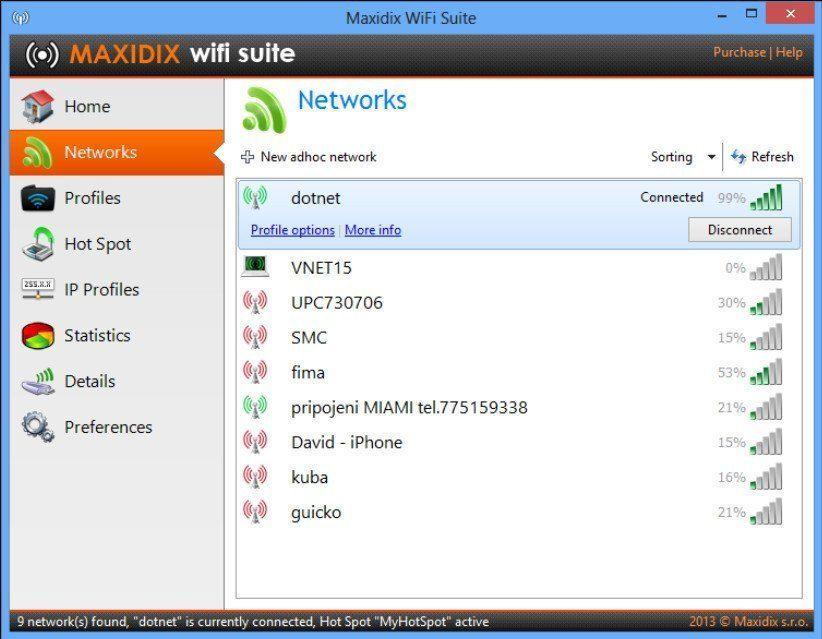 Networks Window