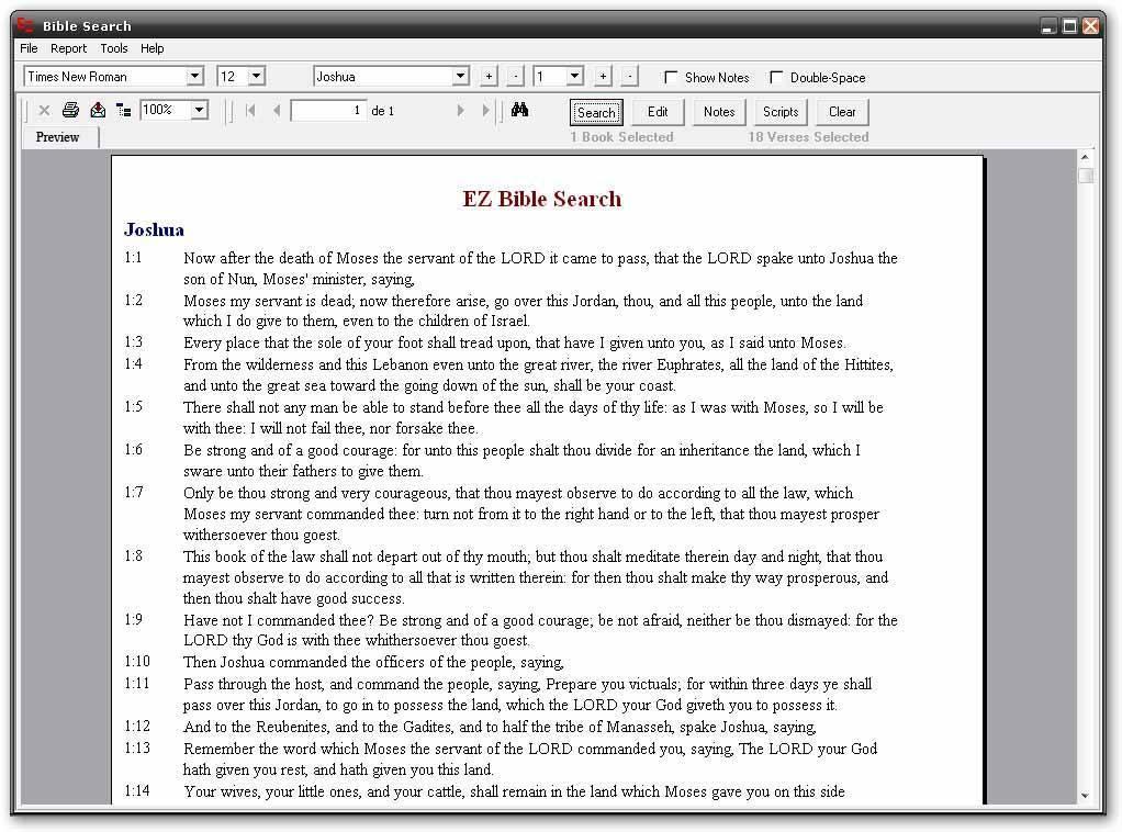EZ Bible Search-Man window