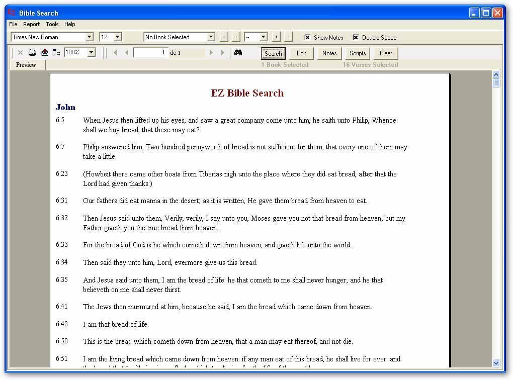 EZ Bible Search-Search report