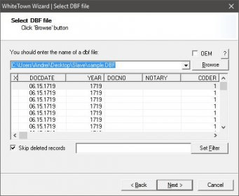 how to open dbf file in access 2007