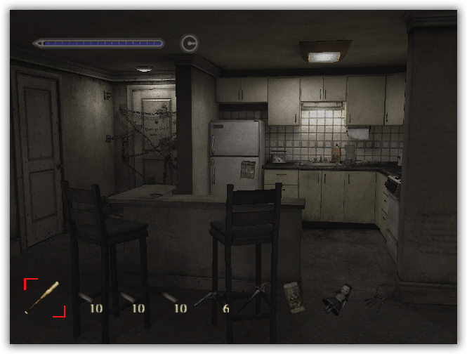 The apartment, look at the chained door.
