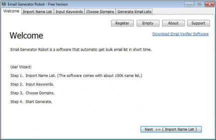 Email Generator Robot 1.0 Download (Free) - EGRobot.exe