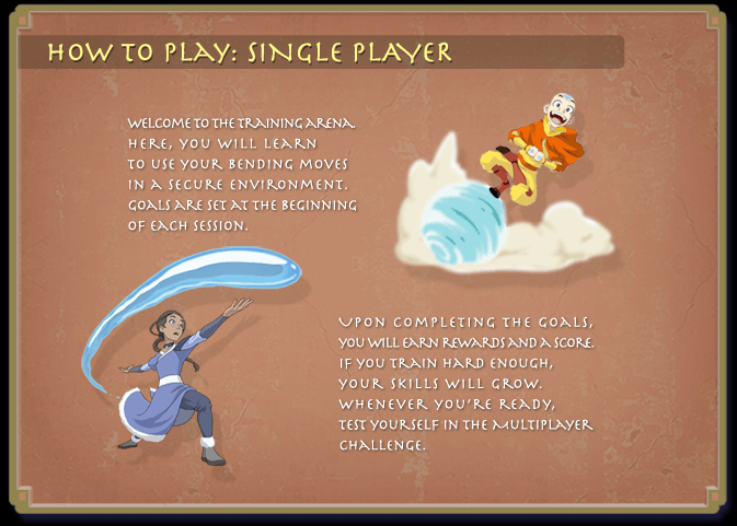 Avatar legends of the arena 1 0 how to play single player