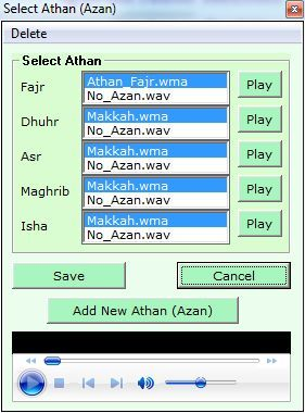 Selecting an Azan