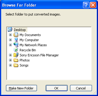 Browse For Folder Screen