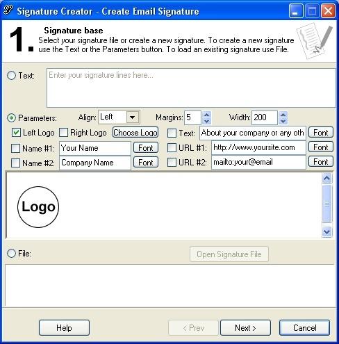 Creating a signature