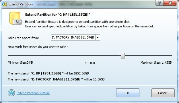Extend Partition