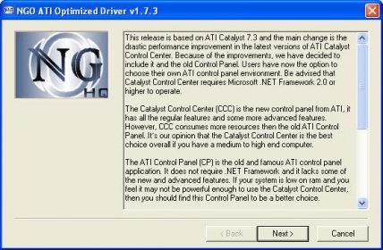 Ngo ati optimized driver