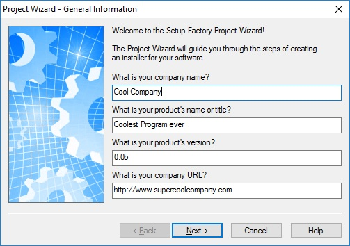 Wizard - General Information