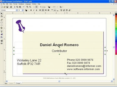 Apli business cards se software informer a complete program to main menu reheart Image collections