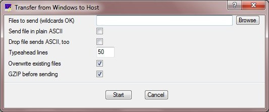 Transfer from Windows to Host