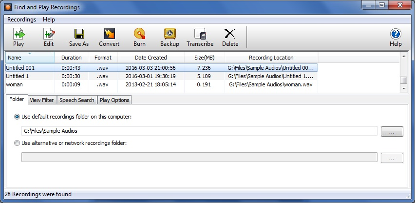 Recordings Manager