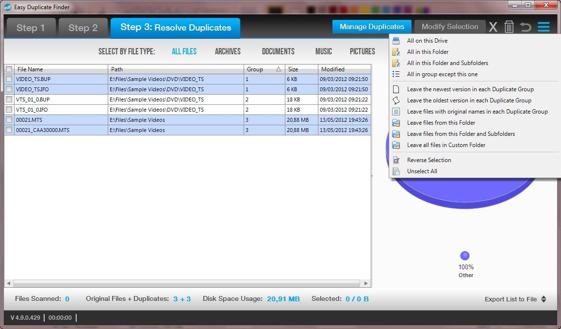 Manage Duplicates