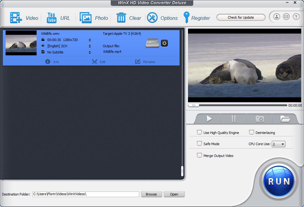 Adding a video file