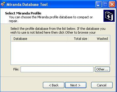 Miranda Data Base Tool