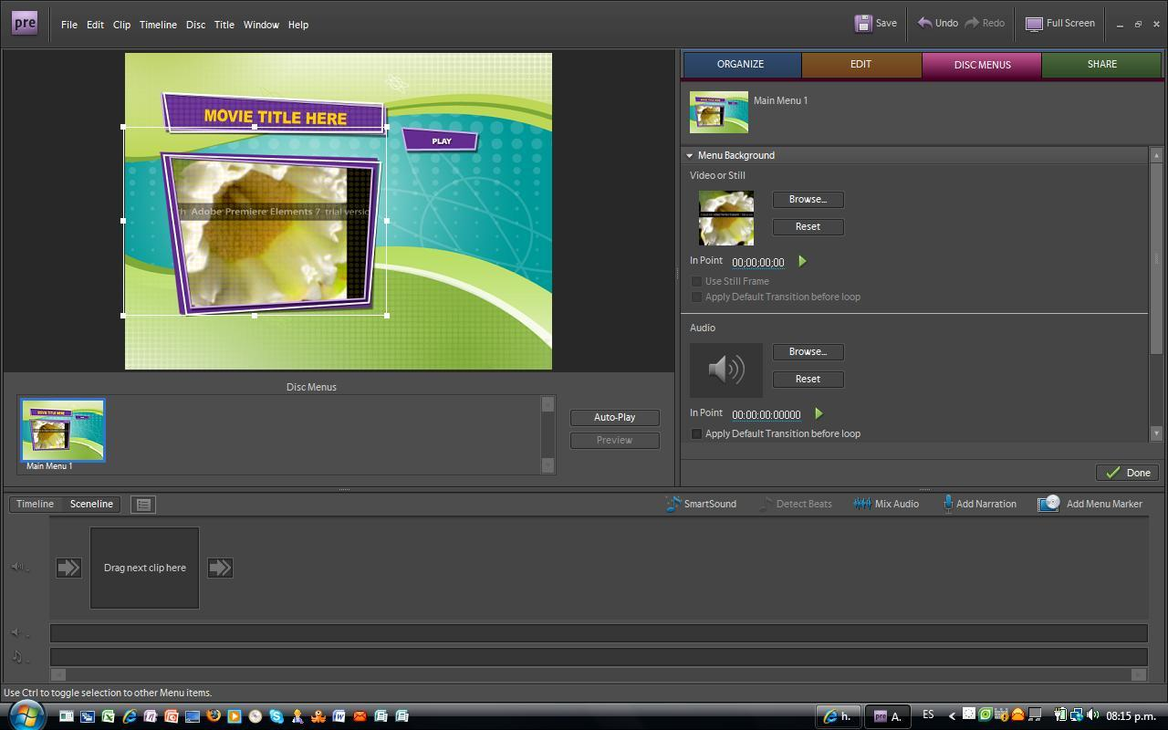 Adobe premiere elements templates software informer screenshots for Free adobe premiere templates
