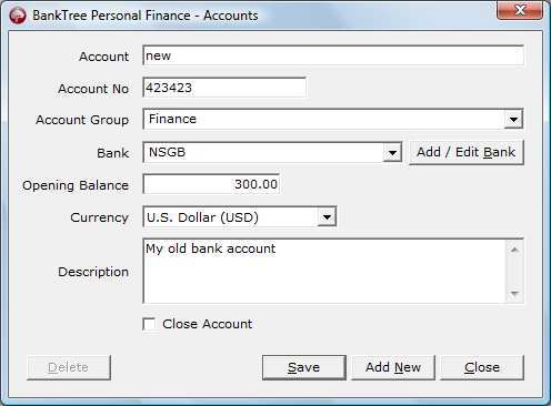 Adding bank accounts.
