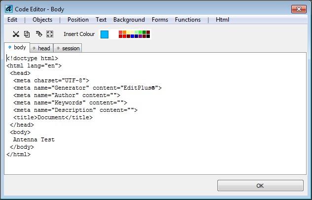 Visual HTML Code Editor
