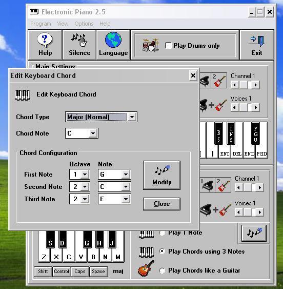 Edit keyboard chord