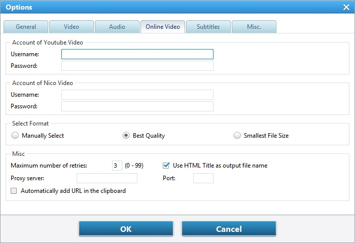 Online Video Options
